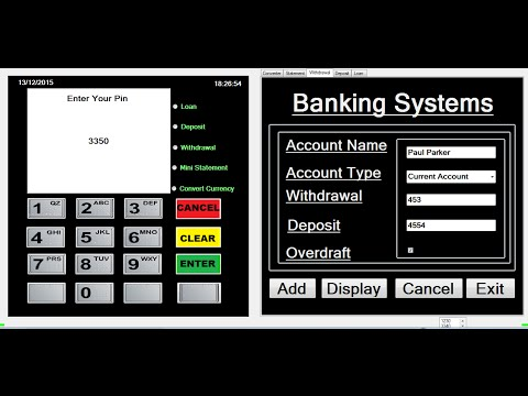 How to create ATM Banking Systems in Visual Basic.Net Full Tutorial