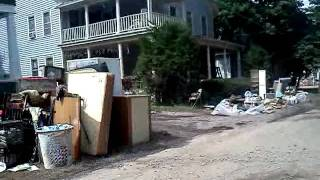 preview picture of video 'FLOOD DEVASTATION IN SCHOHARIE, NY pt 1'