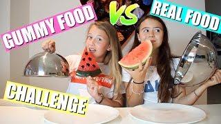 GUMMY FOOD VS REAL FOOD CHALLENGE! (English Subtitles)