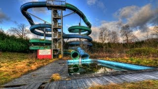 Going down an Abandoned waterslide! Caught by Owner