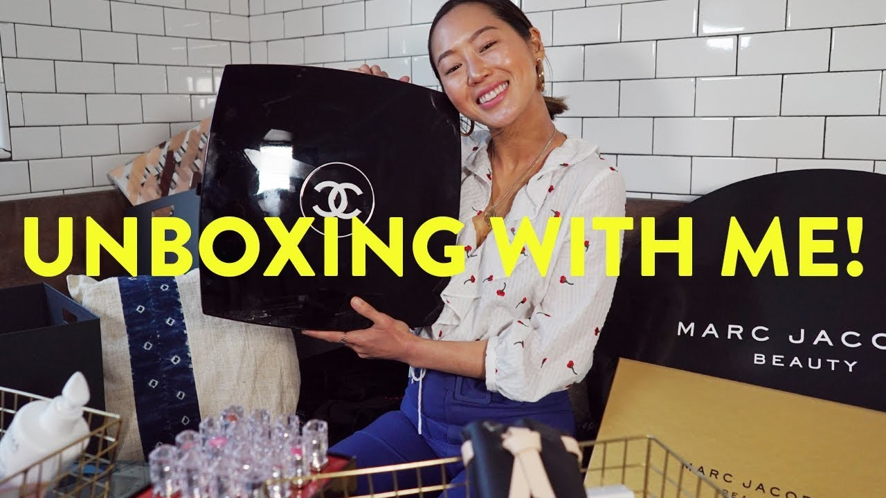 Massive Unboxing Haul & Giveaway! Chanel, Marc Jacobs & More | Aimee Song