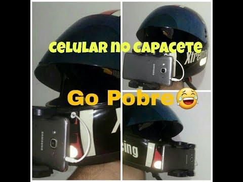 Testando celular no capacete | Go Pobre na shineray xy150-5 max