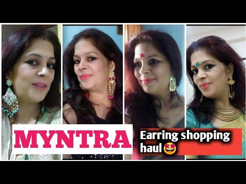 MYNTRA  EARRINGS shopping  Haul /BEAUTIFUL collection For Festival 😊😍Please check and purchase 🙏