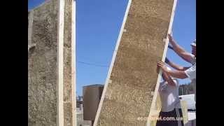 Соломенные панели: начало строительства дома из экопанелей из ржаной соломы в Ворзеле (июль 2015)