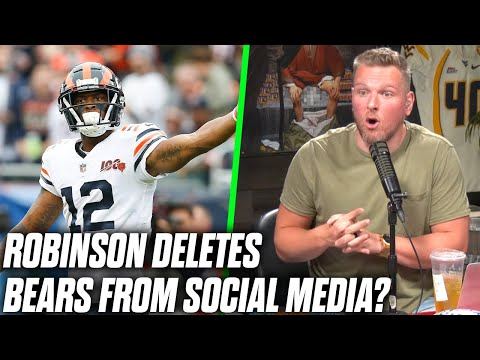 Pat McAfee Reacts To Bears Allen Robinson Wanting Out Of Chicago!?