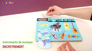 Puzzle sonore : Instruments musicaux