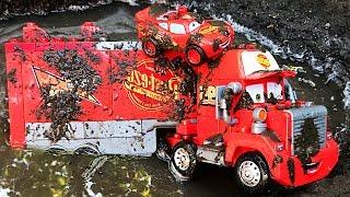 Cars Lightning mcqueen Duplo Mack Truck   Videos for Children