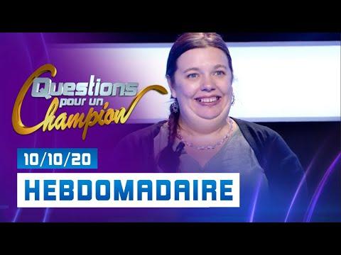 Emission du Samedi 10 octobre 2020 - Questions pour un super champion