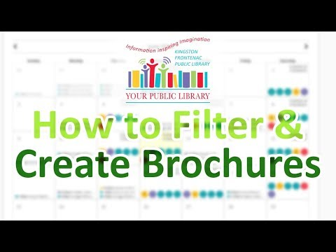 How to Create a Brochure in our Event Calendar