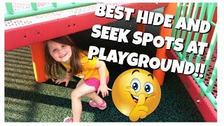 BEST HIDE AND SEEK SPOTS AT THE PLAYGROUND AND PLAYING AT PARK