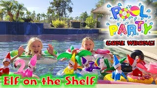 Elf on the Shelf Pool Party Gone Wrong! Who Falls In Caught on Camera?!?!