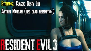 Resident Evil 3 Classic Busty Jill Mod featuring Arthur Morgan from Red Dead Redemption 2