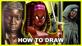 How To Draw Action Poses Ft. The Walking Dead | Heroines