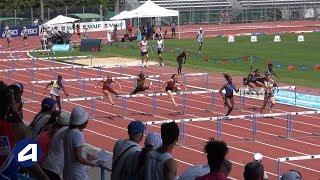 Niort 2018 : Finale 100 m haies Espoirs (Charlotte Pierre en 13''52)