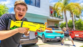 $10,000 NERF BATTLE!! ($4 MILLION MANSION)