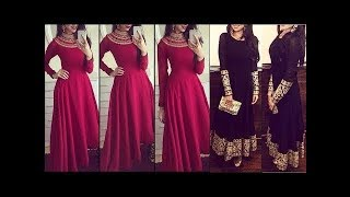 Simple And Beautiful Plain Gown ||Floor Length Dresses||Latest Gown Designs