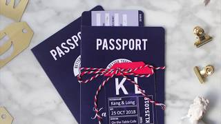 Airplane Ticket, Boarding Pass, Passport Invitations - Perfect For A Destination Wedding!