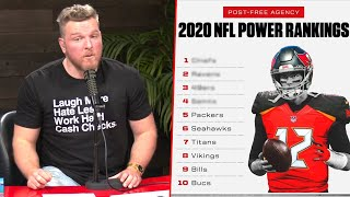 Pat McAfee Reacts To ESPN's Post Free Agency Power Rankings