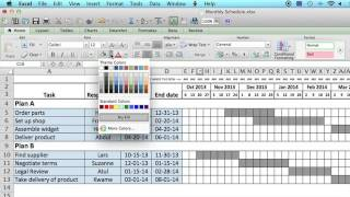 How to Use a Monthly Schedule in Microsoft Excel : Using MS Excel