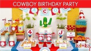 Cowboy Birthday Party Ideas // Cowboy Wanted - B19