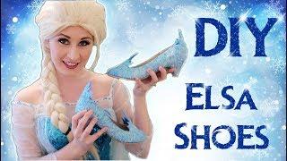 How To Make Frozen Elsa Shoes | DIY TUTORIAL