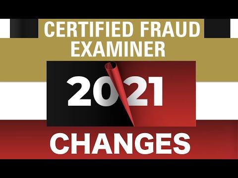 Certified Fraud Examiner (CFE) 2021 Major Changes - YouTube