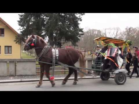 Masopustní průvod ZŠ v Sedlci-Prčici