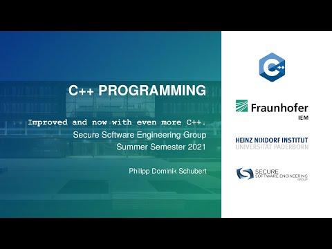 C++ Programming SS21 - Week 9