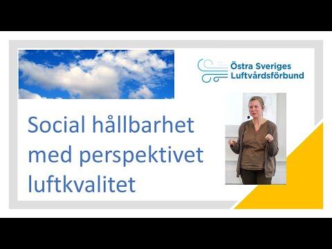 Social hållbarhet med perspektivet luftkvalitet, Regionala Luftvårdsdagen 2020 video thumbnail.