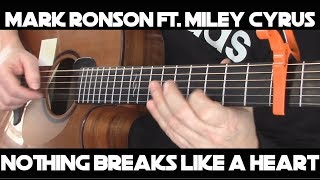 Kelly Valleau - Nothing Breaks Like A Heart (Mark Ronson ft. Miley Cyrus) - Fingerstyle Guitar