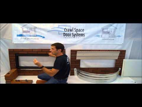 Crawl Space Door – How to Install in Brick Well