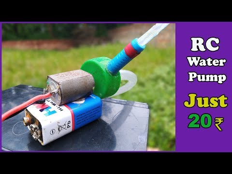 How To Make Powerful Water Pump Using RC Motor | Mini Water Pump | Crazy Ijm