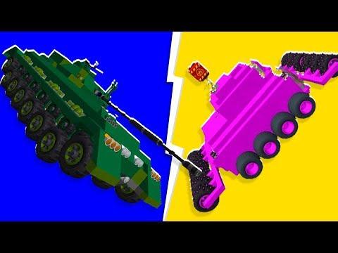 Team Building Practice - The Pink Destroyer Tank Challenge - Scrap Mechanic   JeromeACE