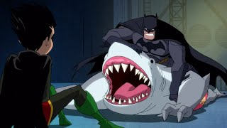 Batman Saves Robin(Damian Wayne) From King Shark - Harley Quinn 01x04 Finding Mr. Right