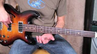 RHCP - Flea Inspired Bass Lesson - Give it Away - Bassline - Tutorial how to play on bass