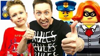 🚔 Лего Сити и РЭП ПРО ОЛЕНЯ в видео про LEGO CITY Мобильный Командный Центр КАРТОНКА