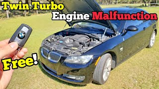 "A STRANGER GAVE ME their BROKEN Twin Turbo BMW for FREE & I Fixed its ""Engine Malfunction"" for $450!"