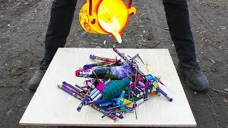 EXPERIMENT: FIRECRACKER VS LAVA