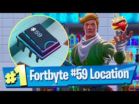 Fortnite Fortbyte #59 Location - Accessible with Durrr! Emoji inside Pizza Pit restaurant