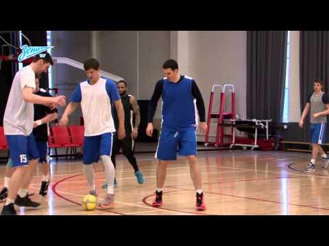 Футбольный матч баскетбольной команды «Зенит»