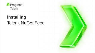 Adding the Telerik NuGet Feed to your NuGet Package Sources.