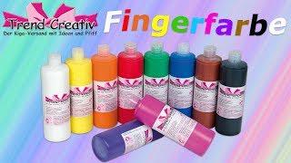 Fingermalfarbe  klecksen, manschen, stempeln / Basteln mit Kindern / Bastelideen für Kinder