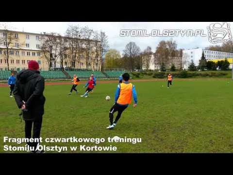 Trening Stomilu Olsztyn przed meczem z Olimpią Grudziądz