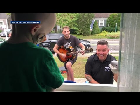 "Dropkick Murphys perform ""Shipping up to Boston"" to a 3 year old fan battling cancer."