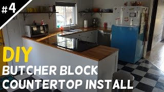 How to Install Butcher Block Countertops - Part 4 of 5