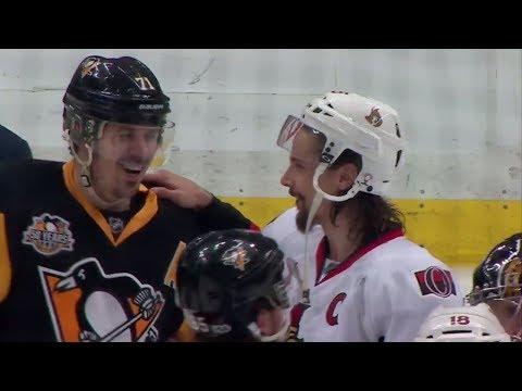Penguins and Senators shake hands after thrilling Game 7