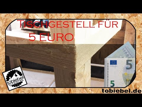 Tischgestell aus Bauholz für unter 5 Euro selber machen ohne Schrauben⎮Tisch selber bauen⎮Tischbein