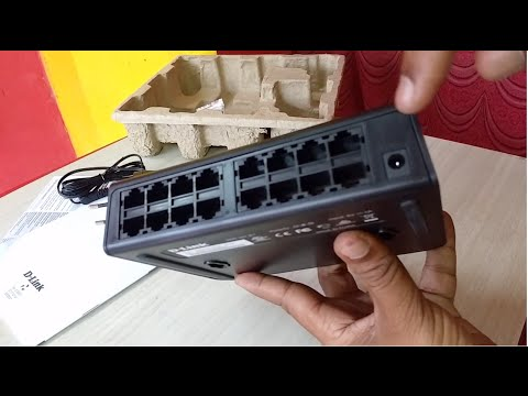 Unboxing D Link 16-Ports Network Switch DES 1016A Review