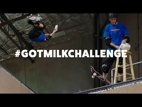 Tony Hawk Takes the Got Milk Challenge Like a Pro
