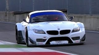 2 x BMW Z4 GT3 Pure V8 Engine Sound